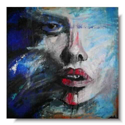 Ciekawy portret abstrakcja niepamięć