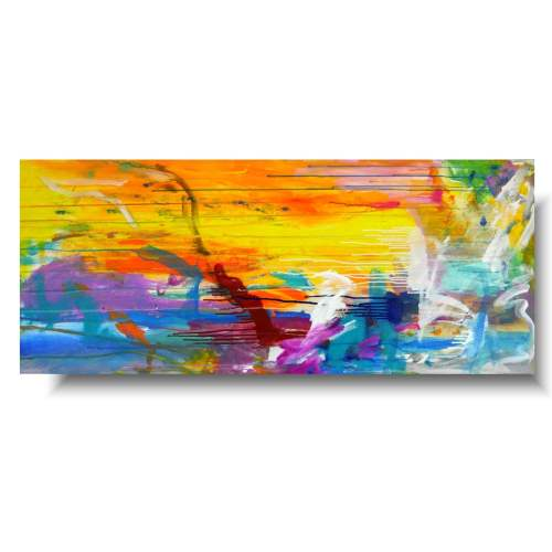 Obraz do salonu abstrakcja radość życia