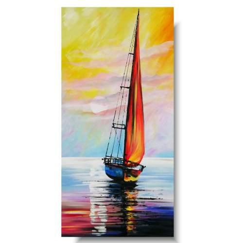 Obraz marynistyczny wakacje na łódce