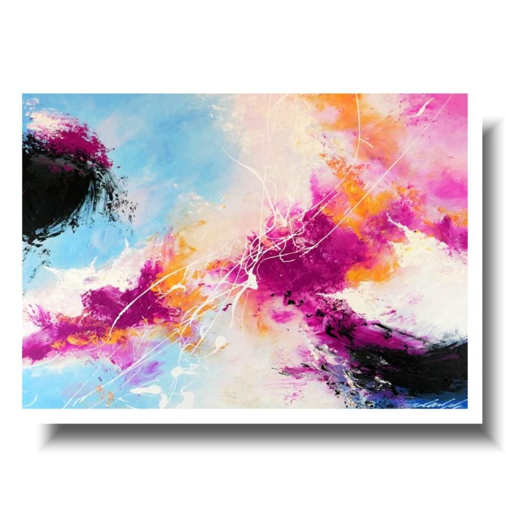 Duży kolorowyobraz w ramie abstrakcja