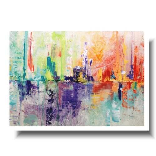 Kolorowa abstrakcjaobraz w ramie