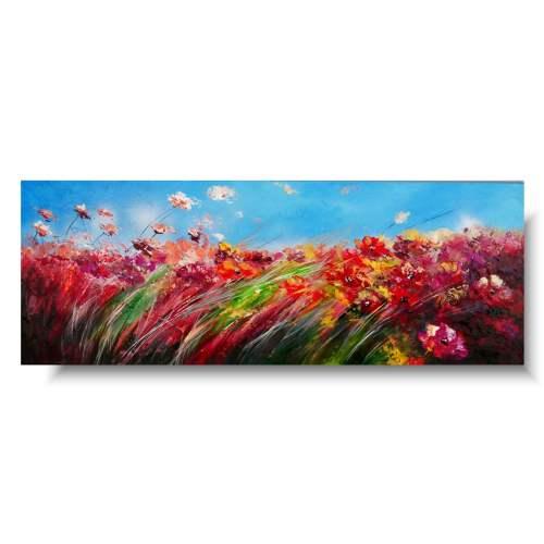 Doskonały obraz z kwiatami makowe pole