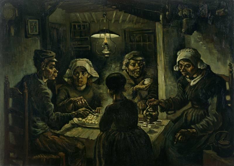 Vincent van Gogh - Jedzący kartofle - wersja druga