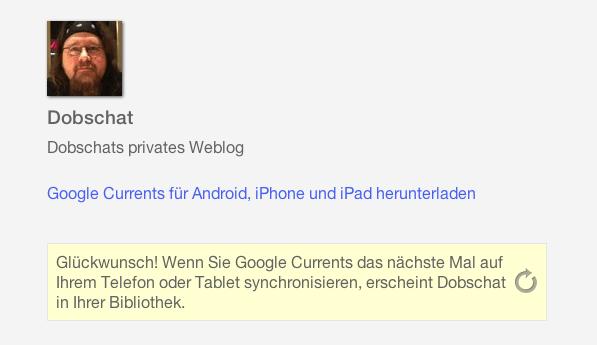 Dobschat bei Google Currents