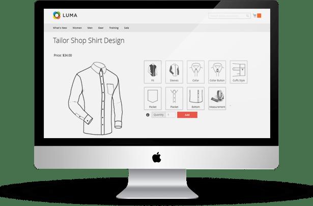 Magento Tailored Shirt Design Online - 12