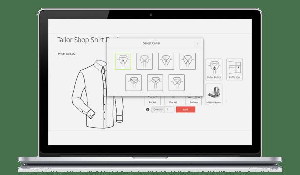 Magento Tailored Shirt Design Online - 14