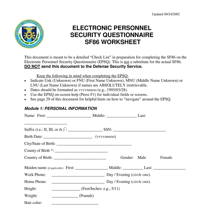 Worksheets Sf 86 Worksheet Cheatslist Free Worksheets