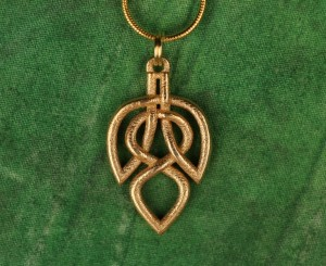 Celtic Knot Leaf Necklace