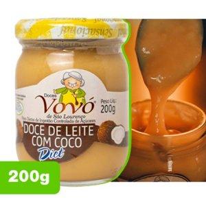 melhor doce de leite diet com coco