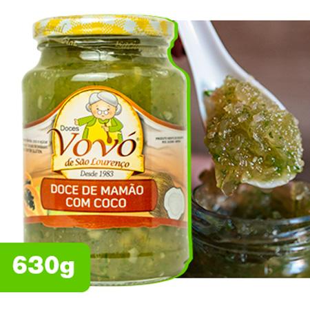 Doce de Mamão Ralado com Coco