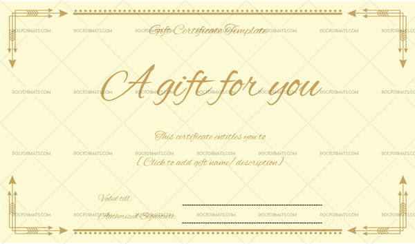 Business Gift Certificate Word Doc Formats