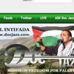 Screenshot of old version of the Musical Intifada which had the older posts