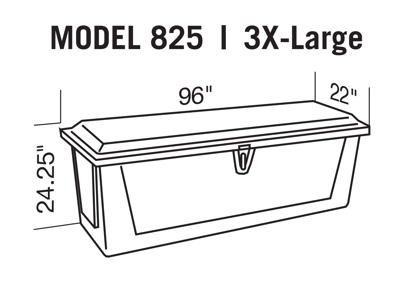 Dock Box Model 825 3xlarge