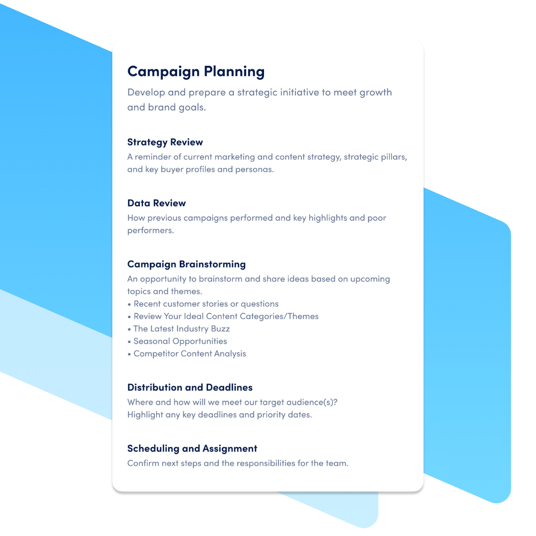 campaign planning template