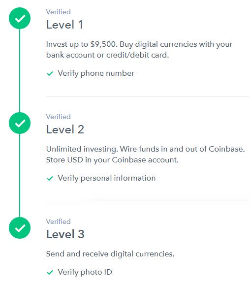 buy bitcoin coinbase id verification