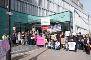 50 protestors outside University Hospitals Bristol Foundation Trust