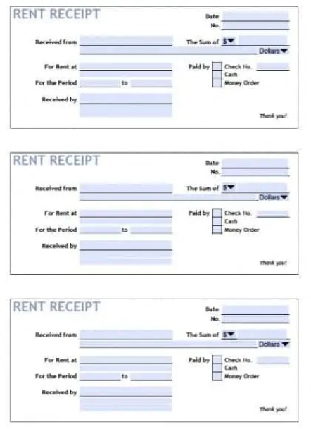 Rent Receipt Templates 494