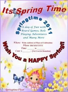 Springtime Flyer Template