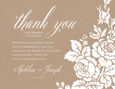 Thank you card Template 1461