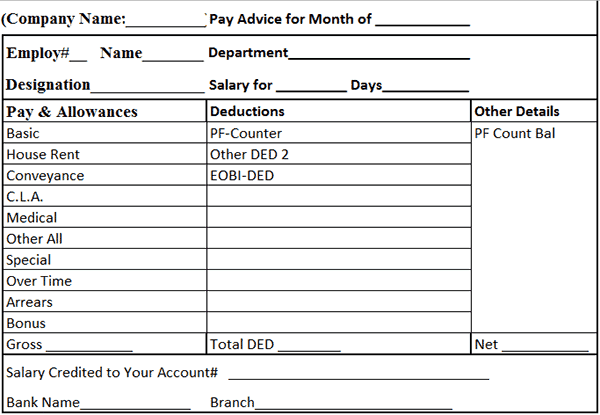 sle salary statement format in excel 9 salary