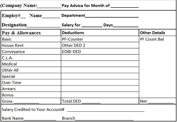 Doc676719 Free Salary Slip Template Salary Slip Template Word