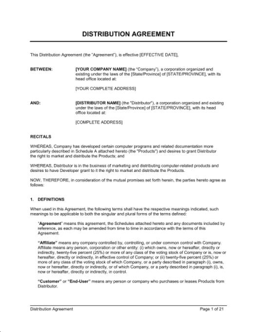 distributor Agreement 2794