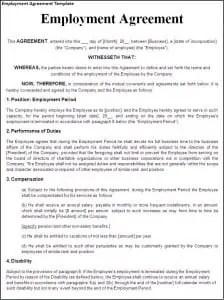 Employment Agreement Template