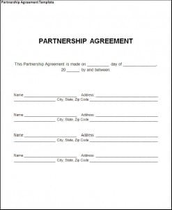 Top 5 Free Partnership Agreement Templates - Word Templates, Excel ...