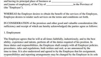 employment agreement 2974