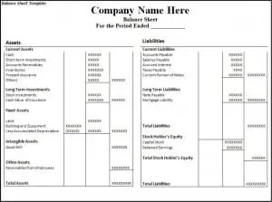 Beautiful Balance Sheet Template