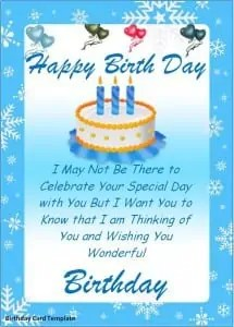 Birthday Card Template  Free Greeting Cards Templates For Word