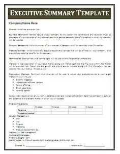 Superb Executive Summary Template 1794 Intended For Free Executive Summary Template