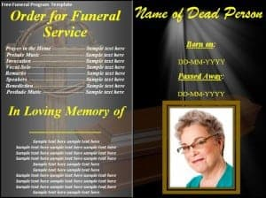 Funeral Program Format Template | Top 5 Layouts Of Funeral Program Templates Word Templates Excel