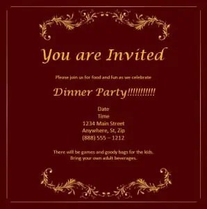 Party Invitation Template - Word Templates, Excel Templates