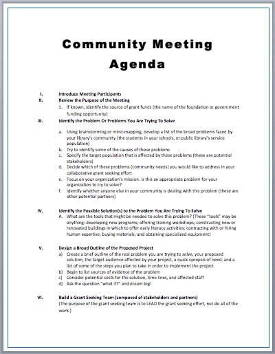 top 5 freemeeting agenda templates