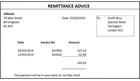 Remittance Templates 1641