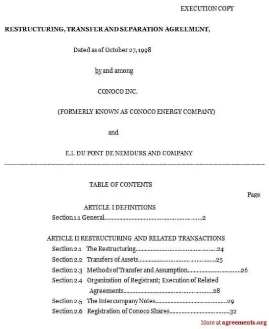 Top  Free Formats Of Separation Agreement Templates  Word