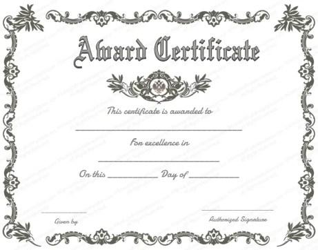 award certififate template 12365