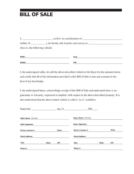 bill of sale template 49641