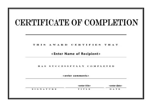 Top 5 Free Certificate Of Completion Templates Word Templates