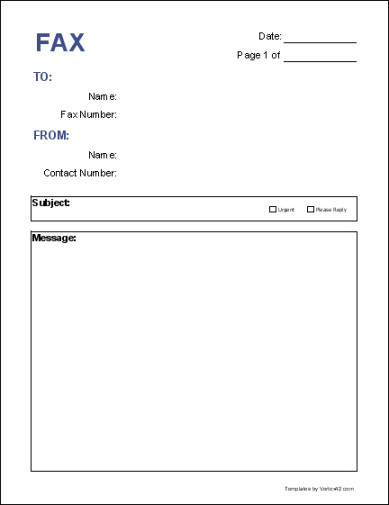 fax word template 4871