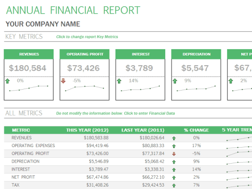 financial report template 15654