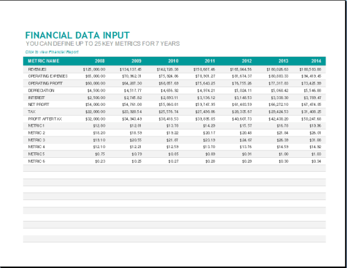 financial report template 2641