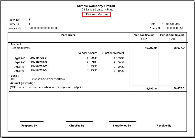 Payment Voucher Template 34761  Payment Voucher Sample