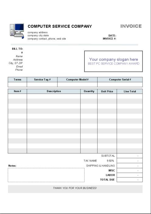 service invoice template 471