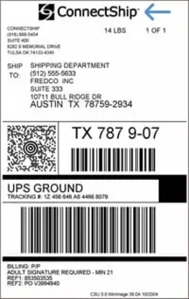 Shipping Label Template 4 Free Printable Shipping Label