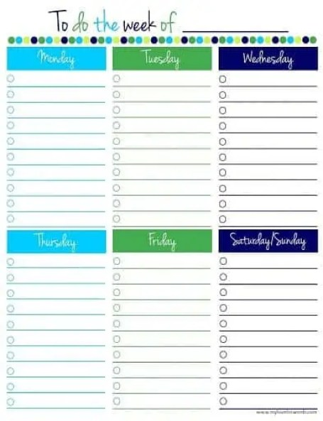 to do list template 16410