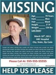 Missing Person Poster Template  Missing Persons Poster Template