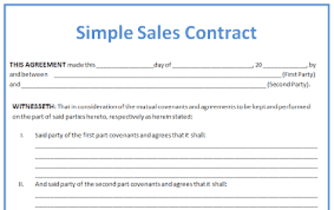 sales contract template 4871