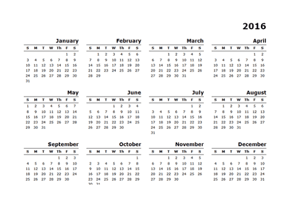yearly calendar template 25641
